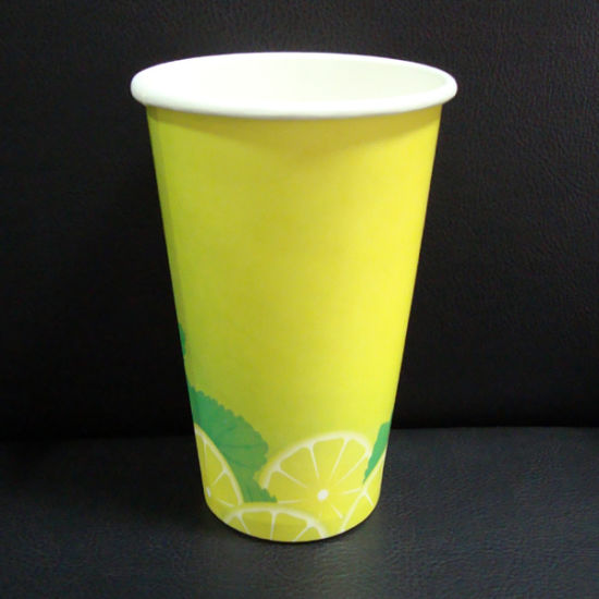 Food Grade Paper Cup with Double PE Coated for Juice Drink pictures & photos