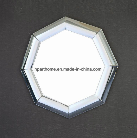 Home Accent And Wall Decor Octagonal Silver MDF Curving Mirror