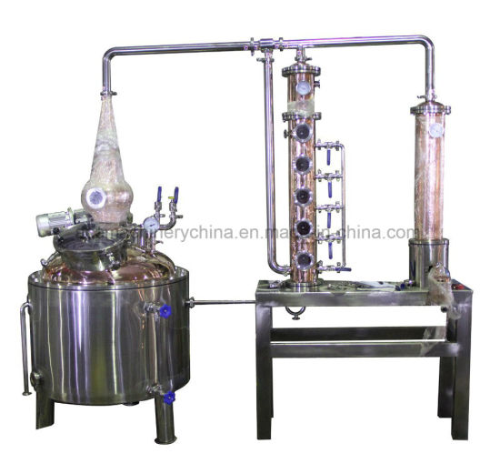 Double Pots Distiller with 6 Plates Copper Column / Two Pot Style Distillation Equipment for Sale pictures & photos