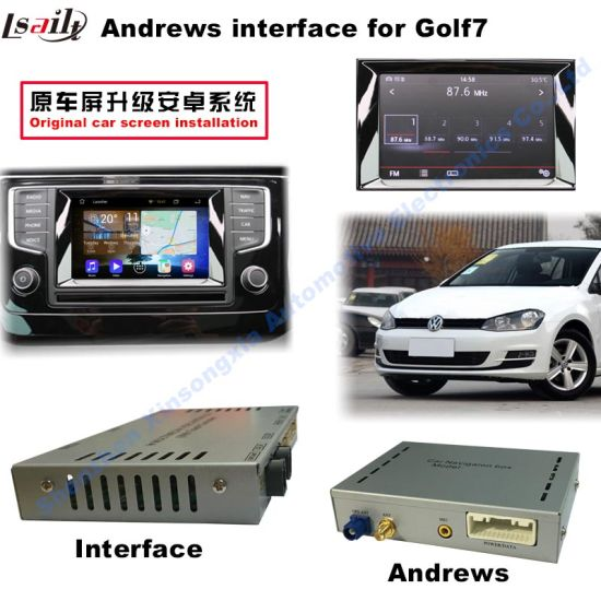China VW Golf7 Car Video Interface (2AV input + android+Bluetooth+