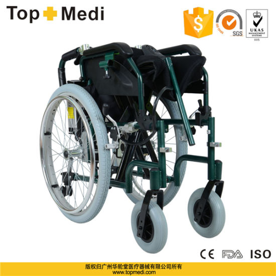 Topmedi Aluminum Power Electric Self-Propelled Wheelchair with Pg Controller pictures & photos