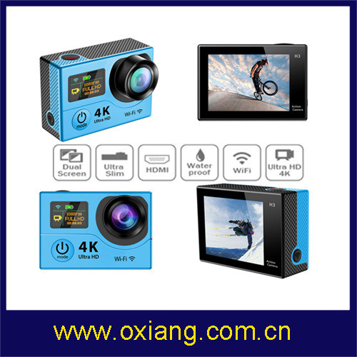 Dual Screens WiFi 4k Sport Camera 1080P 60fps Action Camera pictures & photos