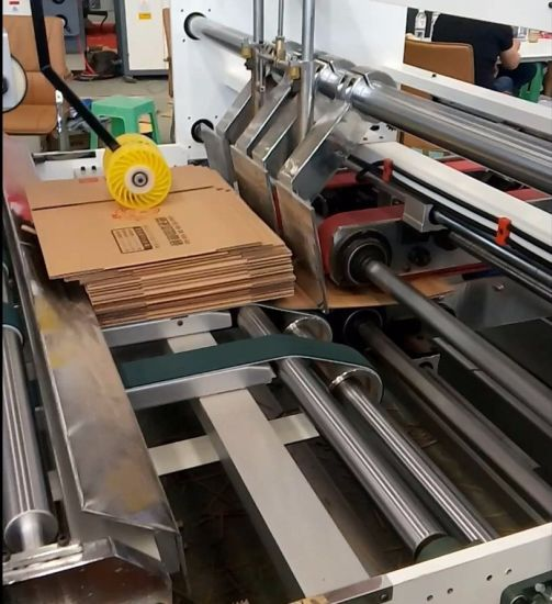 Auto Folder Gluer Carton Box Making Machine pictures & photos