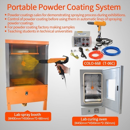 Lab Small Batch Powder Coating Painting Equipment System pictures & photos
