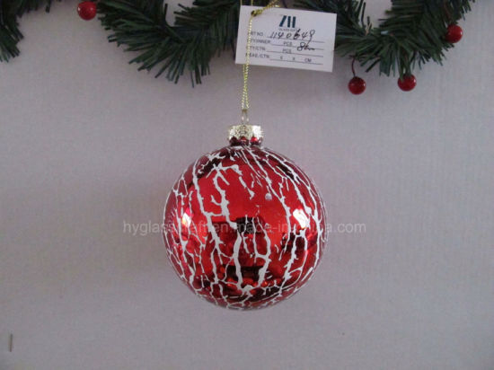 Red Color Glass Ball for Tree Decoration