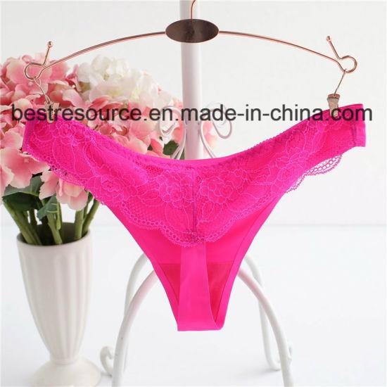 b27676cf2 China Supplier Laser Cut Seamless Women Sexy Mini String Underwear ...