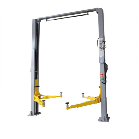 Two Post Design and Double Cylinder Hydraulic Lift Type Electric Release Auto Hoist