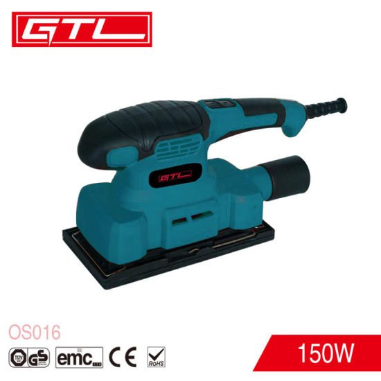 Power Tool 150W 187X90mm Orbital Sander Electric Orbital Palm Sander pictures & photos