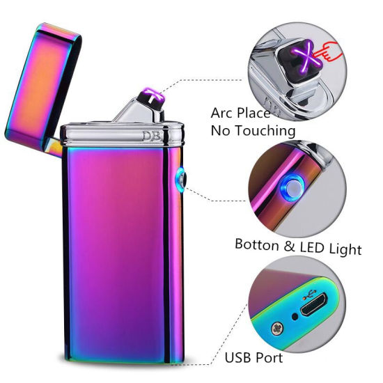 Flameless USB Rechargeable Double Beam Arc Cigarette Lighter with LED pictures & photos