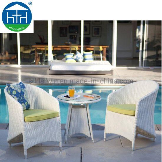 UK Popular Promotional Outdoor Wicker Garden Rattan Patio Dining Table Set