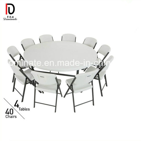 Foldable Canteen Table Set for 8 Persons Restaurant Furniture (BR-T044)