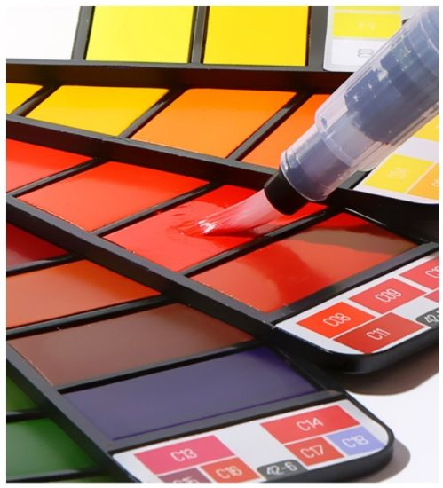 Portable Solid Watercolor Paint Set with Paintbrush Bright Color Painting Pigment