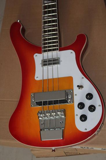 ca95ec3576 4003 Bass Rickenback Custom 4003 Fireglo 4 Strings Bass Guitar Cherry  Sunburst Ricken Bass Double Output Injacks Mono & Stereo Bass