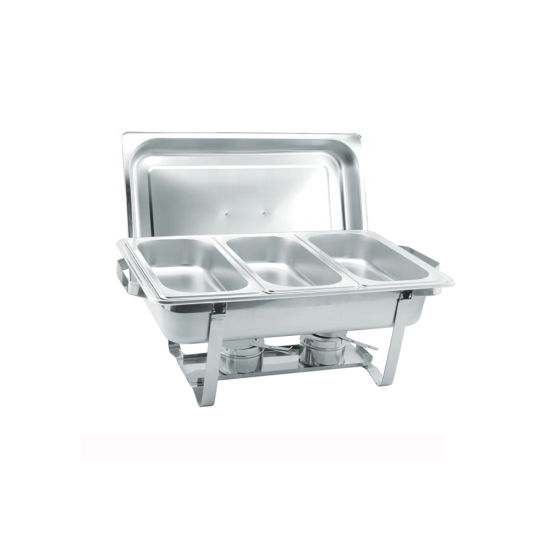 Hotel Restaurant Stainless Steel Serving Chafing Dishes & Buffet Stove Set