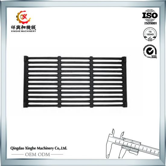 Custom Round/Square Cast Iron Grill Grates BBQ Grill with Teflon Finish