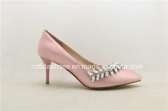 Medium Kitten Heel Comfort Leather Women Shoe