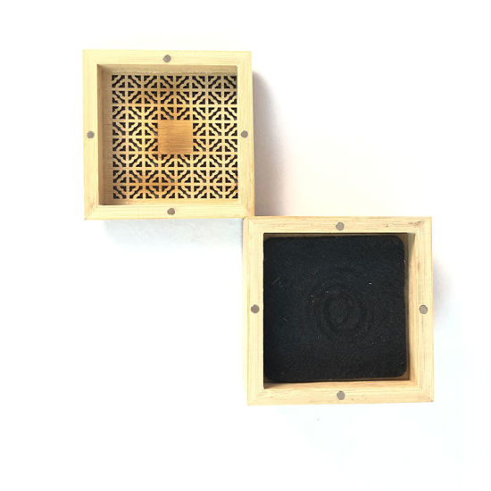 Bamboo Handmade Craft Incense Stick Holder Inserted Wooden