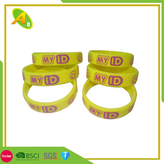 Promotional Cheap DIY Custom Logo Simple UV PVC Anti Mosquito Slap RFID Glow Dark Personalized Fashion NFC Sport USB Silicone Wristband Rubber Silicon Bracelet