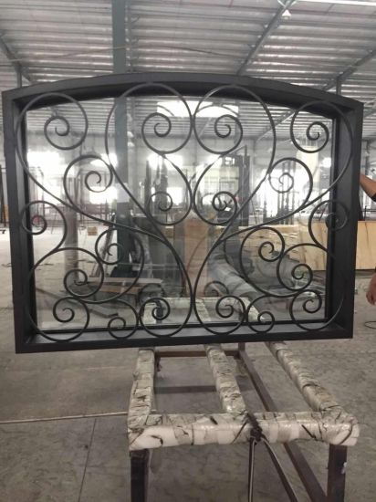 Swell Wrought Iron Transom Window China Security Double Door Ibusinesslaw Wood Chair Design Ideas Ibusinesslaworg