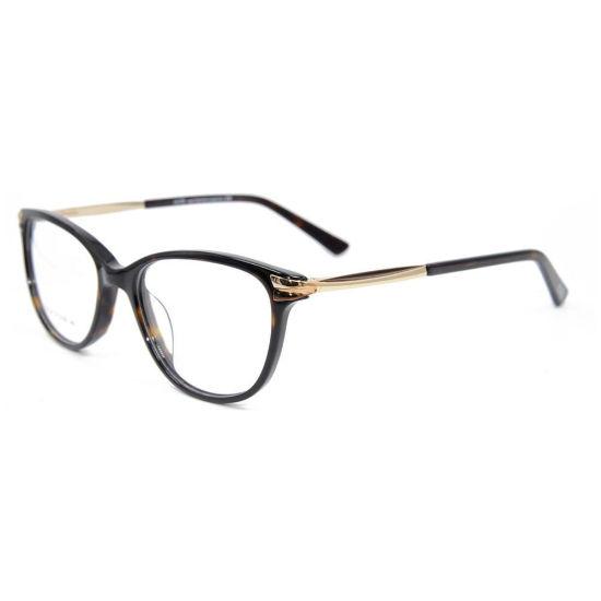 Wholesale Hot Sale Durable Quality Cat Eye Acetate Frame Metal Optical Glasses Frames Women