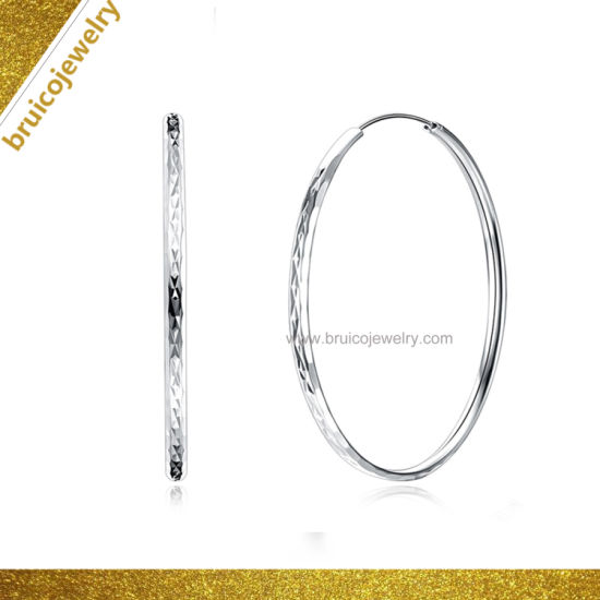 ac10f5edf New Design Fashion Jewelry 925 Sterling Silver 18K White Gold Color Plated Large  Hoop Earrings for Women. Get Latest Price