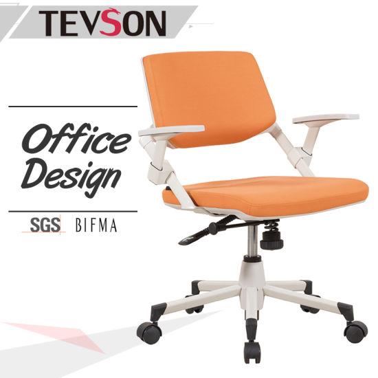 Office Swivel Chair In Foam And Fabric With Castors Fixed Arm