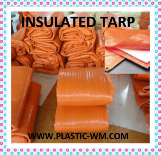 12′x24′ Insulated Tarp Orange Construction Blanket for Winter Season pictures & photos