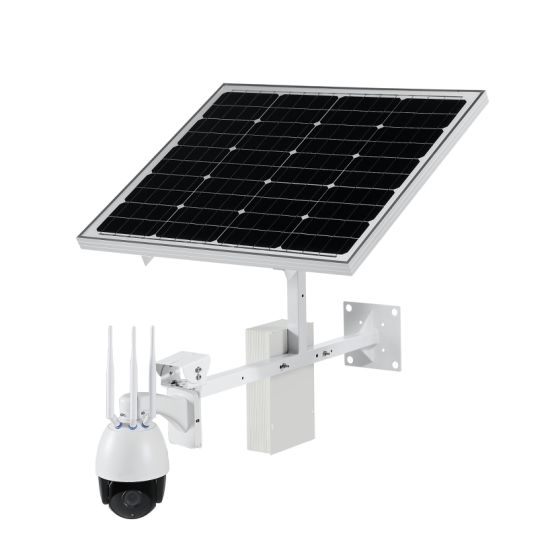 Solar Powered 2MP 4G Wireless WiFi Outdoor CCTV IP PTZ Camera with Support 128GB Micro SD Card Remote Viewing