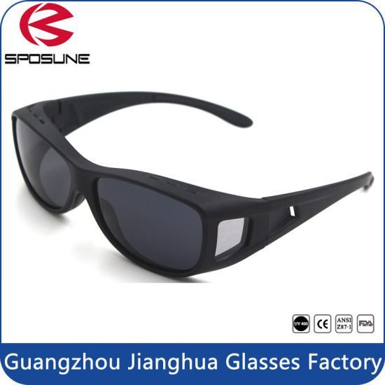 ce906f5f8dbb Competitive Price Polarized Fishing Sunglasses Matt Black Fit Over Driving  Glasses pictures   photos