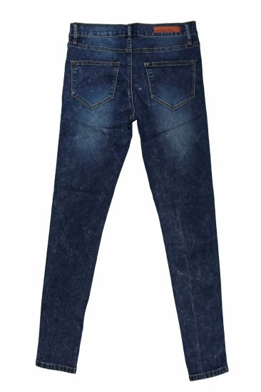 Ladies Good Quality & Snow Washing Skinny Wholesale Denim (MY-040) pictures & photos