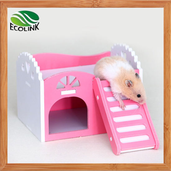 Whitelotous Wooden Hamster House Rat Mouse Exercise Natural Funny Hamster Nest Toy