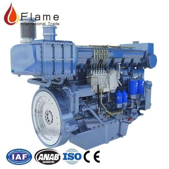 China Weichai 300HP Wp7 Series Marine Diesel Engine Boat Engine