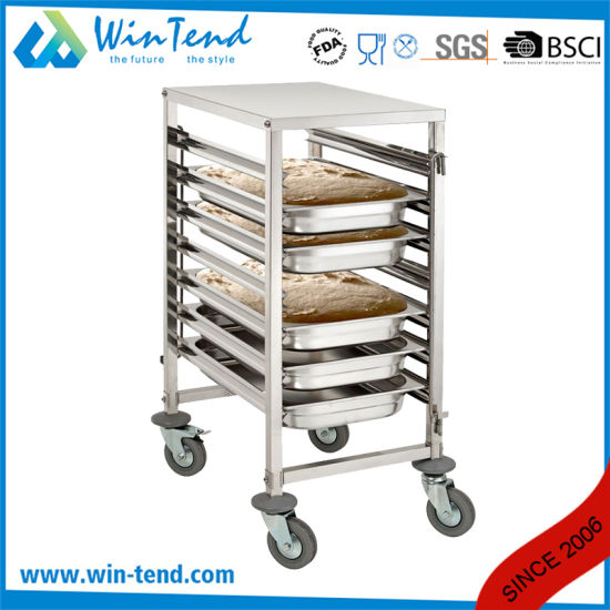 Commercial Kitchen Food Trailer Cart Mobile Design For 2/1 Gn Pan With Work  Table