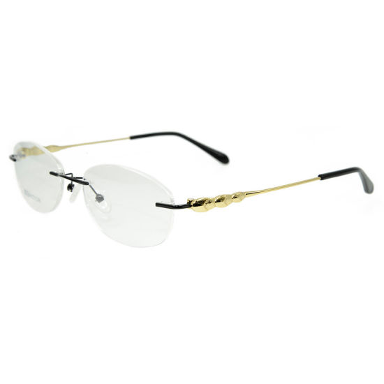 Wholesale New Products Diamond Vogue Design Eyewear Frame Metal Optical Frame Eyeglasses for Ladies