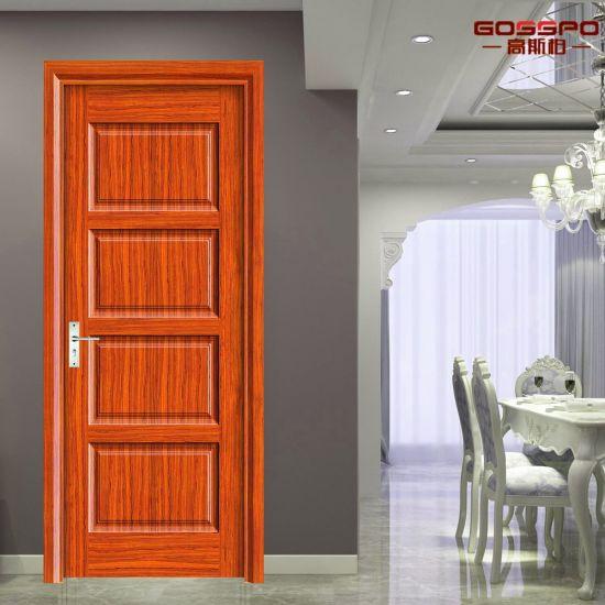 New Design 4 Panel MDF Board Composite Wooden Door (GSP6 014)