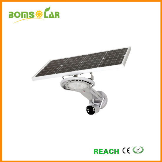 All in One Solar Street Lamp Outdoor with Camera WiFi/4G, Monitored by Mobile Phone, New Solar Street Light Project