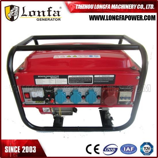 5kVA/5kw 3-Phase Manual Start Gasoline Generator with Breaker Protecter pictures & photos