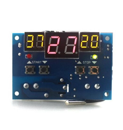 Intelligent Digital Thermostat Temperature Controller Regulator with Ntc Sensor W1401 Termostato DC12V pictures & photos