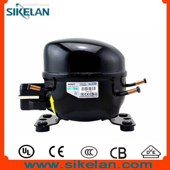 China Hermetic Compressor Mk Series Of Adw77 Freezer Compressor 220v R134a Gas Lbp 1 4hp China Refrigeration Compressor And Refrigerator Compressor Price