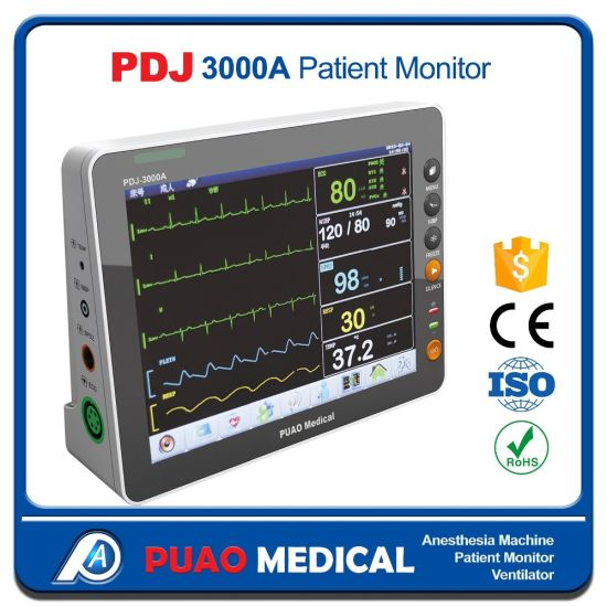 Factory Price Multi-Parameter ICU Portable Patient Monitor Pdj-3000A