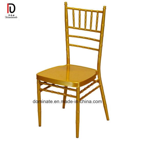 Stacking Metal Hotel Restaurant Banquet Wedding Chiavari Chair (BR-C022)