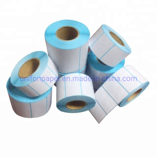 Customized Adhesive Label Paper and Direct Thermal Roll Label Stickers
