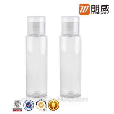 Transparent Double Wall Screw Sealing Pet Bottle Cosmetic Plastic Packaging pictures & photos
