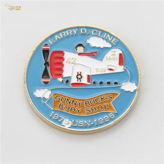 Factory Direct Antique Brass Epoxy Coated Soft Enamel Zinc Alloy Challenge Coins