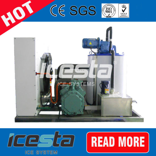 2 Tons Fresh Water Flake Ice Machine for Meat Processing, Slaughter House