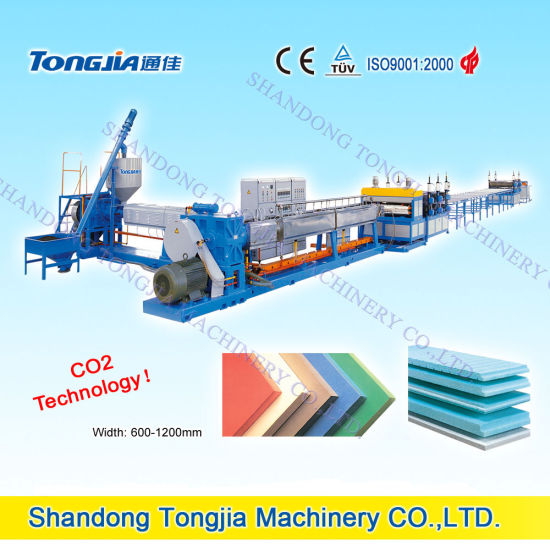 CO2 or Freon Extruded XPS Foaming Sheet Production Machine pictures & photos