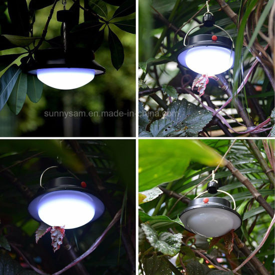 Portable Solar Lamp 5 Modes 60 LED White Powered Camping Lantern Emergency Tent Light