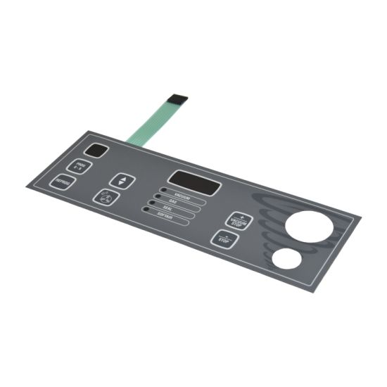 Double-Side Sticker Bluetooth Speaker Panel Membrane Keypad with Windows