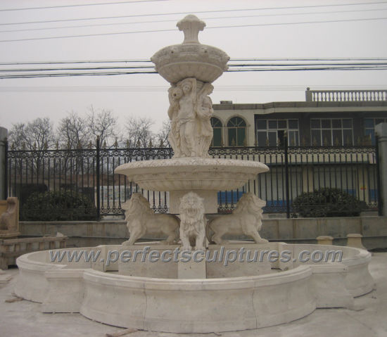 Garden Water Fountain for Carved Stone Garden Sculpture (SY-F356) pictures & photos