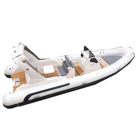 Liya 7.5m Hypalon Rigid Hull Inflatable Rib Boats Center Console Motor Water Fishing Tour Speed Boats for Sale